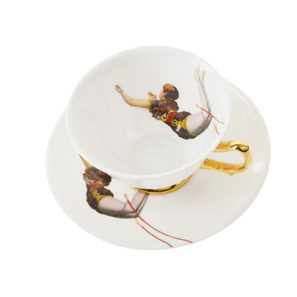 Melody Rose Trapeze Girl teacup above